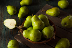 Green Organic Bartlett Pears Stock Photo