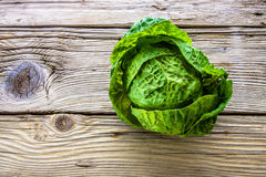 Green organic fresh cabbage  on Royalty Free Stock Photo