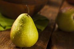 Green Organic Healthy Pears Royalty Free Stock Photos