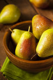 Green Organic Healthy Pears Royalty Free Stock Image