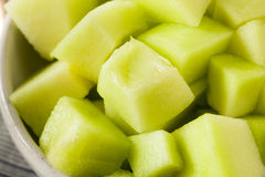 Green Organic Honeydew Melon Royalty Free Stock Photography