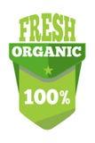 Green organic natural eco label Stock Photo