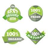 Green organic natural labels set Royalty Free Stock Photo