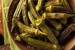 Green Organic Roasted Okra Stock Image