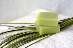 Green Organic Soap Royalty Free Stock Images