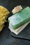 Green Organic Soap Royalty Free Stock Photo