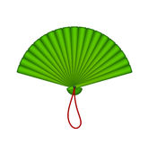 Green oriental fan Royalty Free Stock Photo