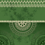 Green oriental grunge henna mandala background Stock Photography