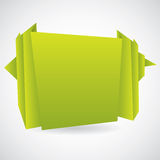 Green origami background Royalty Free Stock Images