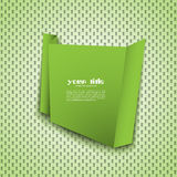 Green origami banner. On textured background vector illustration