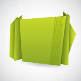 Green origami paper with tire track Royalty Free Stock Image