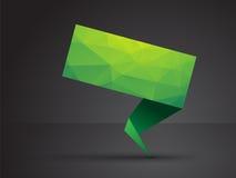 Green origami tag stock illustration