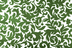 Green ornament. White background with green pattern Royalty Free Stock Photography