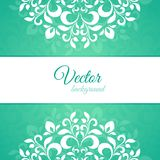 Green ornament petal with space for text Royalty Free Stock Photos