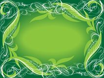 Green ornamental background Royalty Free Stock Images