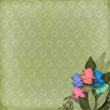 Green ornamental background Royalty Free Stock Photo
