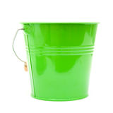 Green ornamental bucket Royalty Free Stock Images
