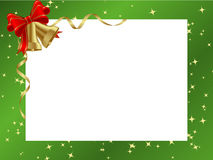 Green ornamental christmas frame Stock Photos