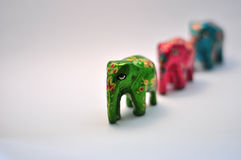 Green ornamental elephant Stock Photos