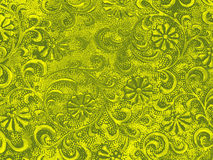 Green ornamental floral background Stock Images