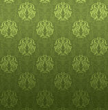 Green ornamental pattern. Luxury green ornamental pattern on a green background Royalty Free Stock Image