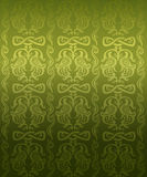 Green ornamental pattern Stock Images