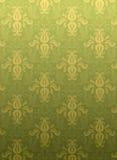 Green ornamental pattern. Luxury green ornamental pattern on a green background Stock Photo