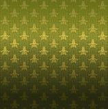 Green ornamental pattern. Luxury gold ornamental pattern on a green background Royalty Free Stock Photo