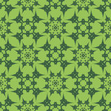 Green Ornamental Seamless Line Pattern Royalty Free Stock Images