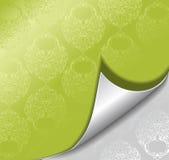 Green ornamental wallpaper Royalty Free Stock Photography