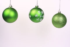 Green ornaments 4 Royalty Free Stock Photography
