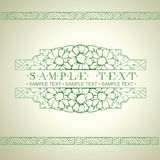 Green Ornate Art Deco Quad Banner Royalty Free Stock Photography