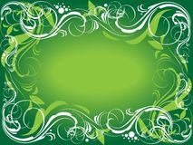 Green ornate background Royalty Free Stock Photography