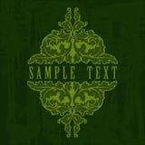 Green Ornate Grunge Quad Royalty Free Stock Image