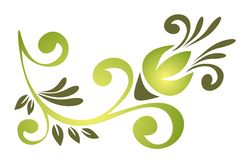 Green ornate pattern Stock Photo