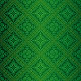 Green ornate wallpaper Stock Photo