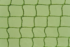 Green outdoor tennis court net Stock Image