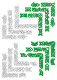 Green and outline celtic frame borders Royalty Free Stock Image