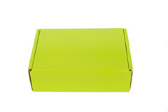 Green packaging box, studio photography of green box isolated on Stock Photo