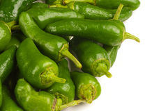 Green  padron peppers Stock Photo