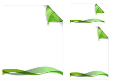 Green page design Stock Image