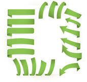 Green page elements Stock Photography