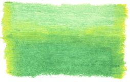 Green painted background. Self painted oil pastel background in shades of green royalty free stock photography