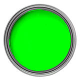 Green paint. Can with green paint isolated over white background, saved with clipping path Royalty Free Stock Image