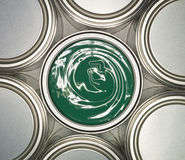 Green Paint can Stock Photography