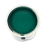 Green paint in can Royalty Free Stock Photography