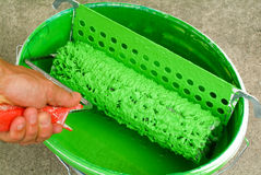 Green paint can Royalty Free Stock Photo