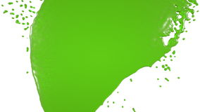 Green paint dripping down over screen. juice. Green paint dripping down over screen. Isolated on white background. Alpha matte is included.. juice vector illustration