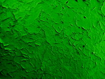 Green paint. A layer of old green paint on metal door Stock Photo