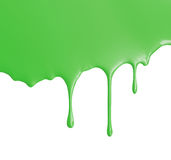 Green Paint Pouring Stock Photo
